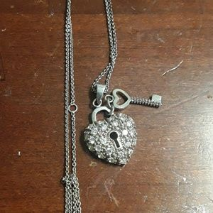 sterling heart pendant on a sterling chain